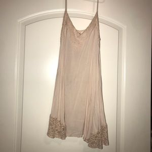 Baby pink dress with lace